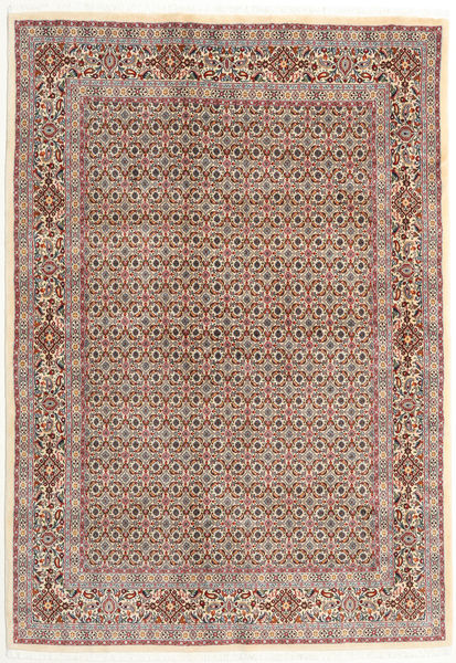 ムード 絨毯 166X238 オリエンタル 手織り 薄茶色/薄い灰色 (ウール/絹, ペルシャ/イラン)