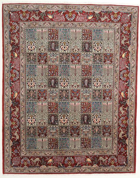 Moud Rug 198X250 Authentic  Oriental Handknotted Light Brown/Dark Brown (Wool/Silk, Persia/Iran)