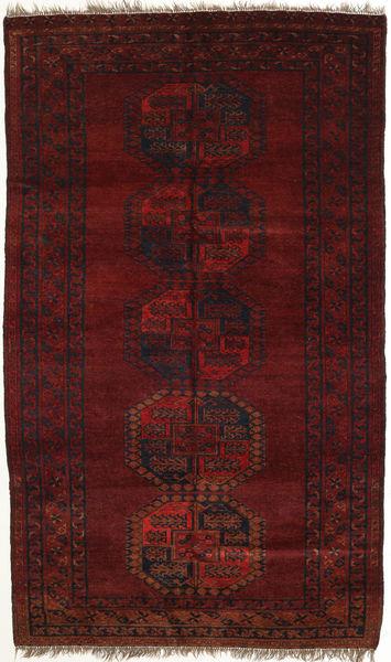 Afghan Khal Mohammadi Matto 124X207 Itämainen Käsinsolmittu Tummanpunainen (Villa, Afganistan)