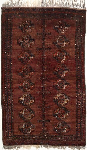 Afghan Khal Mohammadi Rug 126X201 Authentic  Oriental Handknotted Dark Red (Wool, Afghanistan)