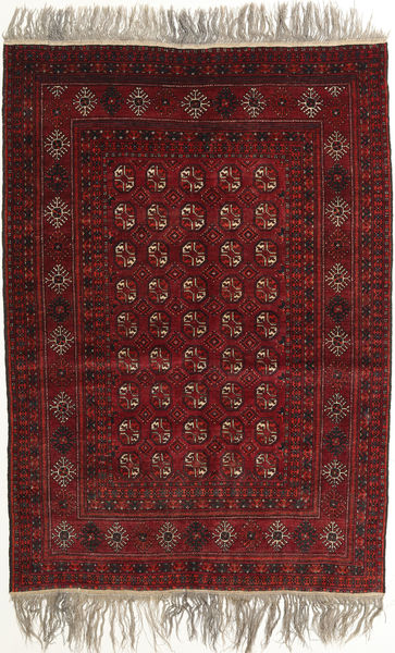 Afghan Khal Mohammadi Matto 132X182 Itämainen Käsinsolmittu Tummanpunainen/Vaaleanruskea (Villa, Afganistan)