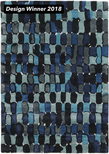 In The Woods - 2018 Rug 160X230 Modern Dark Blue/Dark Turquoise   ( India)