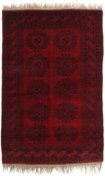 Afghan Khal Mohammadi Matto 130X197 Itämainen Käsinsolmittu Tummanpunainen/Tummanruskea (Villa, Afganistan)