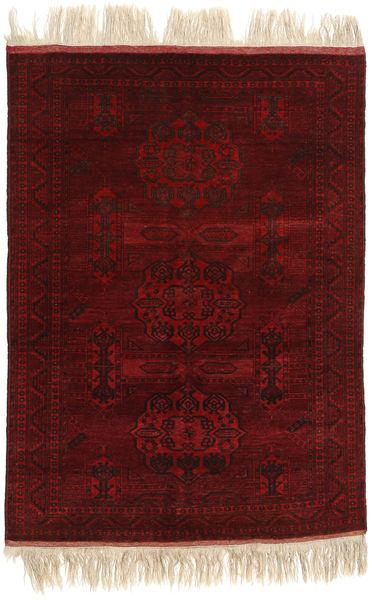 Afghan Khal Mohammadi Rug 130X180 Authentic  Oriental Handknotted Dark Red/Dark Brown (Wool, Afghanistan)