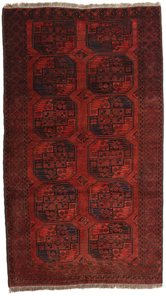 Afghan Khal Mohammadi Rug 120X203 Authentic  Oriental Handknotted Dark Red (Wool, Afghanistan)