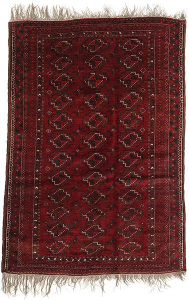 Afghan Khal Mohammadi Matto 123X177 Itämainen Käsinsolmittu Tummanpunainen (Villa, Afganistan)