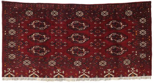 Afghan Khal Mohammadi Teppich  88X166 Echter Orientalischer Handgeknüpfter Dunkelrot/Dunkelbraun (Wolle, Afghanistan)