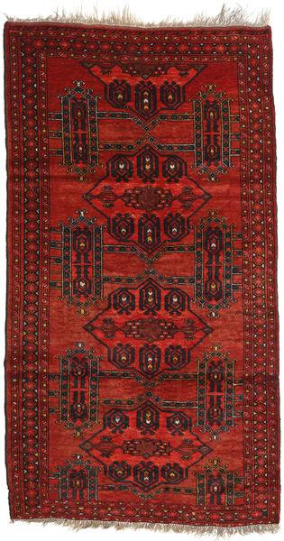 Afghan Khal Mohammadi Matto 110X203 Itämainen Käsinsolmittu Tummanpunainen/Ruoste (Villa, Afganistan)