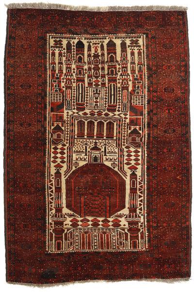 Afghan Khal Mohammadi Rug 109X160 Authentic  Oriental Handknotted Dark Red/Dark Brown (Wool, Afghanistan)