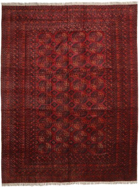 Afghan Khal Mohammadi Alfombra 410X535 Oriental Hecha A Mano Rojo Oscuro/Marrón Oscuro Grande (Lana, Afganistán)