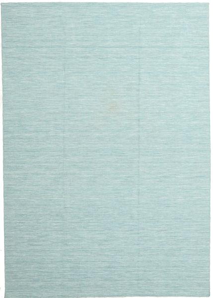 Kelim Loom - Sekundär Matta 220X320 Äkta Modern Handvävd Ljusblå/Pastellgrön (Ull, Indien)
