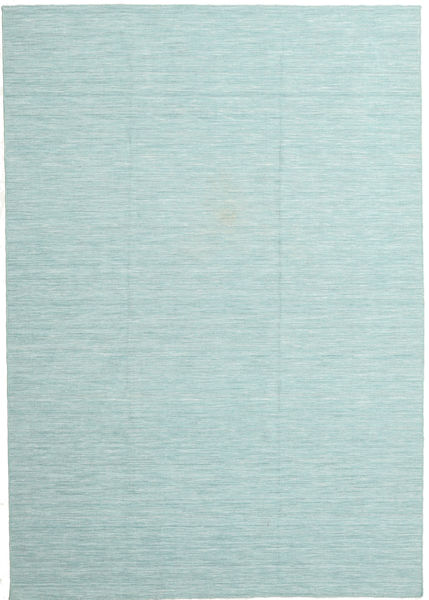 Kelim Loom - Secundair Vloerkleed 220X320 Echt Modern Handgeweven Lichtblauw/Pastel Groen (Wol, India)