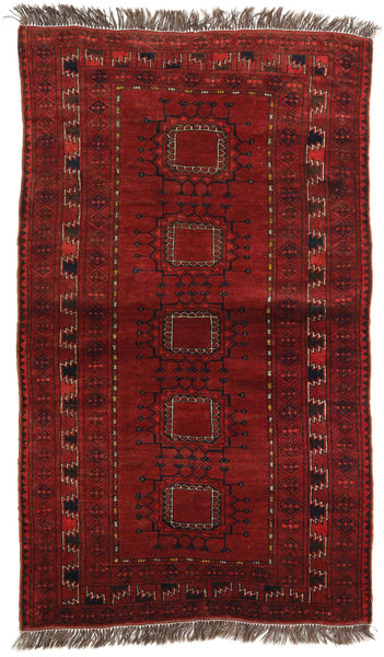Afghan Khal Mohammadi Rug 96X161 Authentic  Oriental Handknotted Dark Red (Wool, Afghanistan)