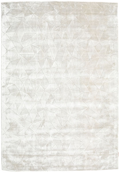 Crystal - Bianco Argentato Tappeto 160X230 Moderno Beige/Beige Scuro ( India)