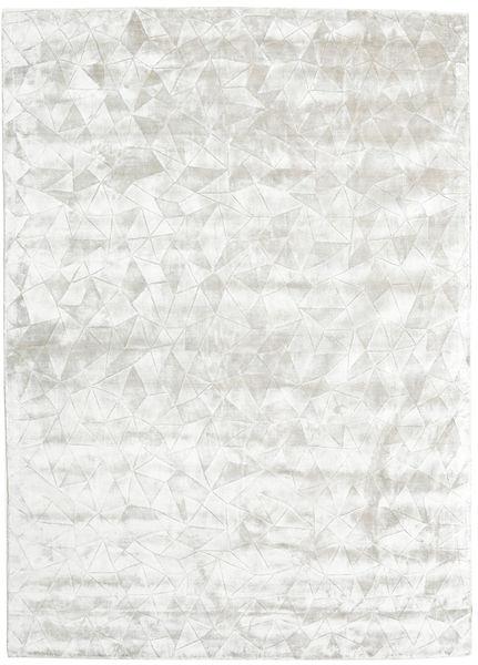 Crystal - Sølvvit Teppe 210X290 Moderne Beige/Lys Grå ( India)