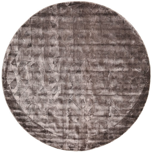 Crystal - Chocolate Rug Ø 250 Modern Round Light Grey/Dark Grey Large ( India)