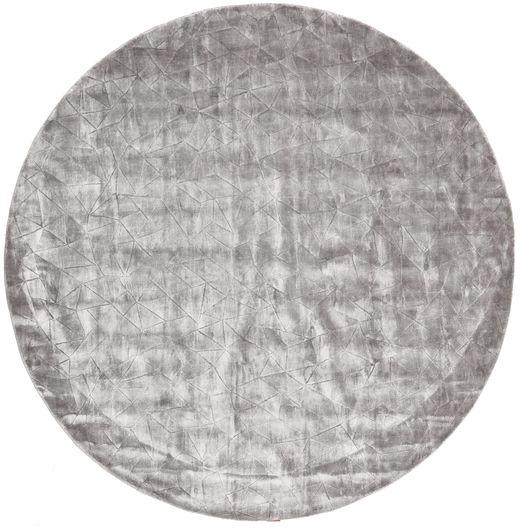 Crystal - Soft Grey Matto Ø 250 Moderni Pyöreä Tummanharmaa/Vaaleanharmaa Isot ( Intia)