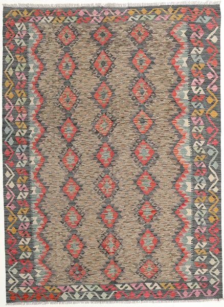 Kilim Afghan Old Style Rug 177X240 Authentic  Oriental Handwoven Light Brown/Dark Grey (Wool, Afghanistan)