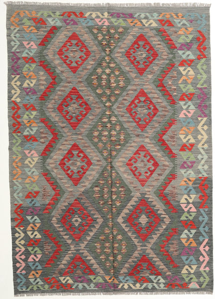 Kilim Afghan Old Style Rug 177X249 Authentic  Oriental Handwoven Dark Grey/Light Grey (Wool, Afghanistan)
