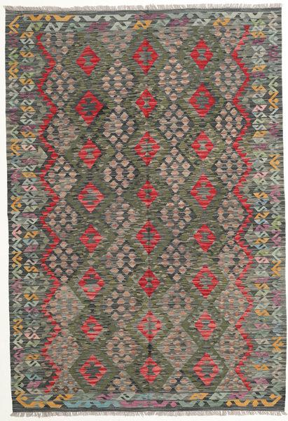 Kelim Afghan Old Style Matto 169X248 Itämainen Käsinkudottu Tummanharmaa/Oliivinvihreä (Villa, Afganistan)