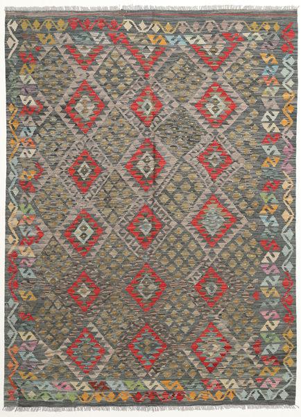 Kilim Afghan Old Style Rug 170X231 Authentic  Oriental Handwoven Dark Grey/Olive Green (Wool, Afghanistan)