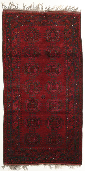 Afghan Khal Mohammadi Matto 114X213 Itämainen Käsinsolmittu Tummanpunainen (Villa, Afganistan)