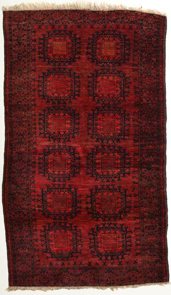 Afghan Khal Mohammadi Rug 111X193 Authentic  Oriental Handknotted Dark Red/Crimson Red (Wool, Afghanistan)
