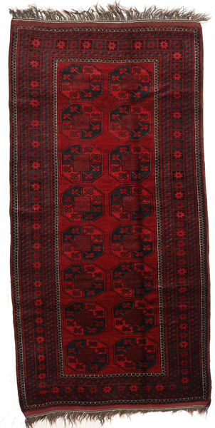 Afghan Khal Mohammadi Rug 113X218 Authentic  Oriental Handknotted Dark Brown/Dark Red (Wool, Afghanistan)