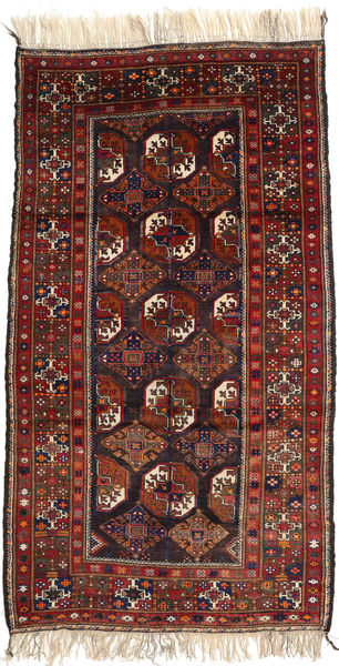 Afghan Khal Mohammadi Vloerkleed 119X214 Echt Oosters Handgeknoopt Donkerrood/Zwart (Wol, Afghanistan)