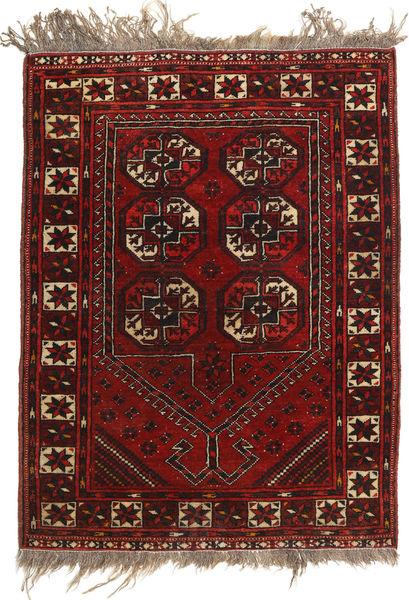 Afghan Khal Mohammadi Matto 79X105 Itämainen Käsinsolmittu Tummanpunainen/Vaaleanruskea (Villa, Afganistan)