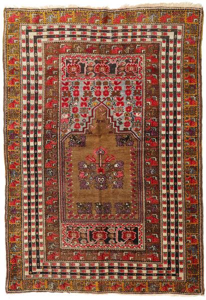Afghan Khal Mohammadi Rug 140X201 Authentic  Oriental Handknotted Dark Red/Dark Brown (Wool, Afghanistan)