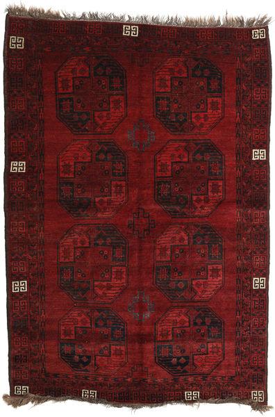 Afghan Khal Mohammadi Rug 144X207 Authentic  Oriental Handknotted Dark Red/Dark Brown (Wool, Afghanistan)