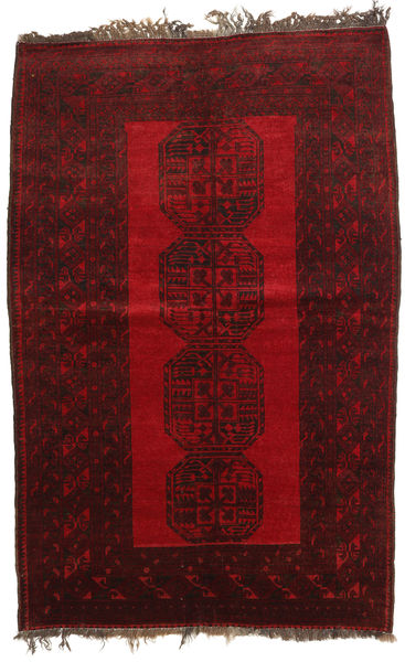 Afghan Khal Mohammadi Rug 134X203 Authentic  Oriental Handknotted Dark Red/Dark Brown (Wool, Afghanistan)