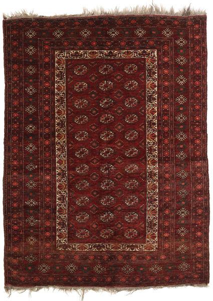 Afghan Khal Mohammadi Matta 137X181 Äkta Orientalisk Handknuten Mörkröd/Mörkbrun (Ull, Afghanistan)