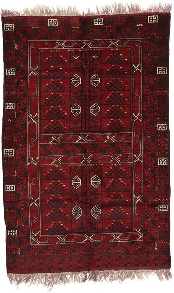 Afghan Khal Mohammadi Covor 146X220 Orientale Lucrat Manual Roșu-Închis/Maro Închis (Lână, Afganistan)