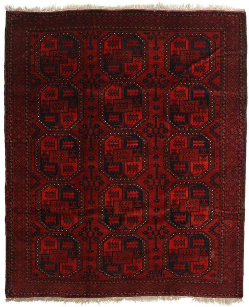 Afghan Khal Mohammadi Rug 206X246 Authentic  Oriental Handknotted Dark Brown/Dark Red (Wool, Afghanistan)