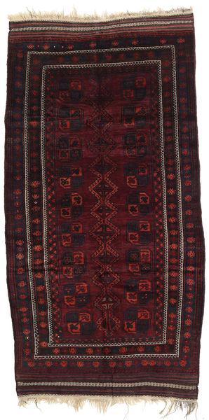Afghan Khal Mohammadi Matto 142X280 Itämainen Käsinsolmittu Tummanpunainen (Villa, Afganistan)