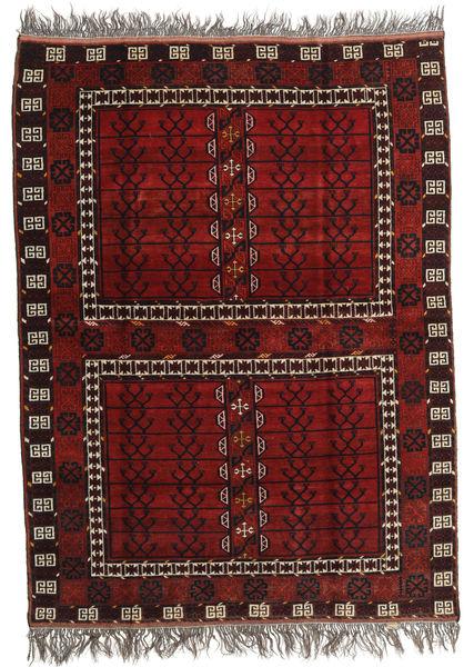 Afghan Khal Mohammadi Teppich  167X221 Echter Orientalischer Handgeknüpfter Dunkelrot/Hellgrau (Wolle, Afghanistan)