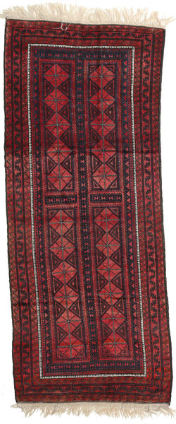 Afghan Khal Mohammadi Matto 126X313 Itämainen Käsinsolmittu Käytävämatto Tummanpunainen/Musta (Villa, Afganistan)