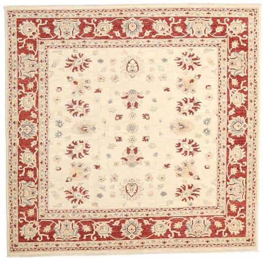 Ziegler Ariana Rug 198X200 Authentic  Oriental Handknotted Square Beige/Dark Red (Wool, Afghanistan)