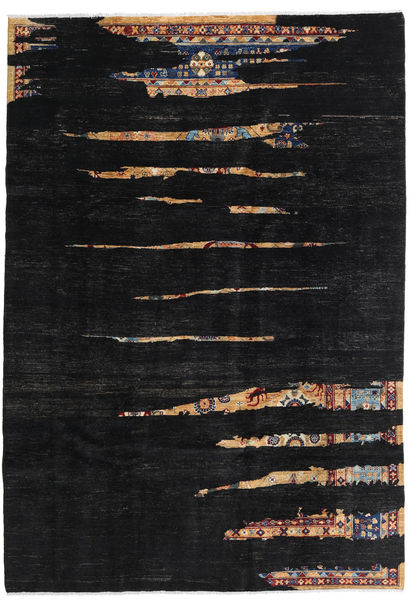 Ziegler Ariana Rug 197X283 Authentic  Oriental Handknotted Black (Wool, Afghanistan)