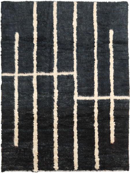 Barchi/Moroccan Berber - Afganistan Vloerkleed 205X273 Echt Modern Handgeknoopt Zwart/Donkergrijs (Wol, Afghanistan)