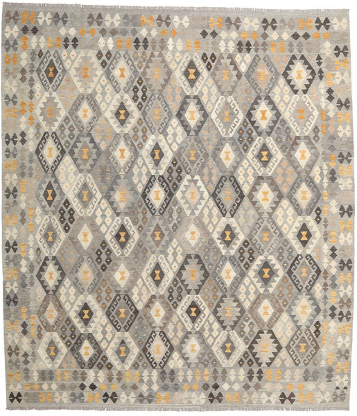 Kilim Afghan Old Style Rug 261X295 Authentic  Oriental Handwoven Light Brown/Light Grey Large (Wool, Afghanistan)