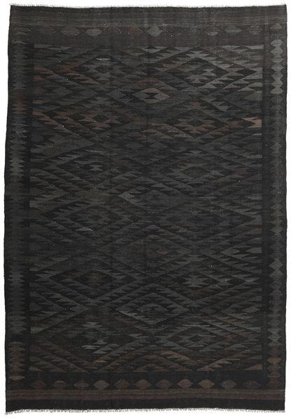 Kilim Afghan Old Style Rug 201X290 Authentic  Oriental Handwoven Black/Dark Grey (Wool, Afghanistan)
