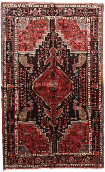 Hosseinabad Matto 165X240 Itämainen Käsinsolmittu Tummanpunainen/Ruoste (Villa, Persia/Iran)