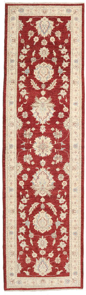 Ziegler Ariana Rug 83X302 Authentic  Oriental Handknotted Hallway Runner  Dark Red/Beige (Wool, Afghanistan)