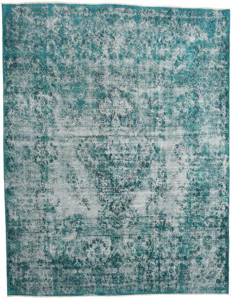 Vintage Heritage Matto 307X397 Moderni Käsinsolmittu Tumma Turkoosi/Vaaleansininen Isot (Villa, Persia/Iran)