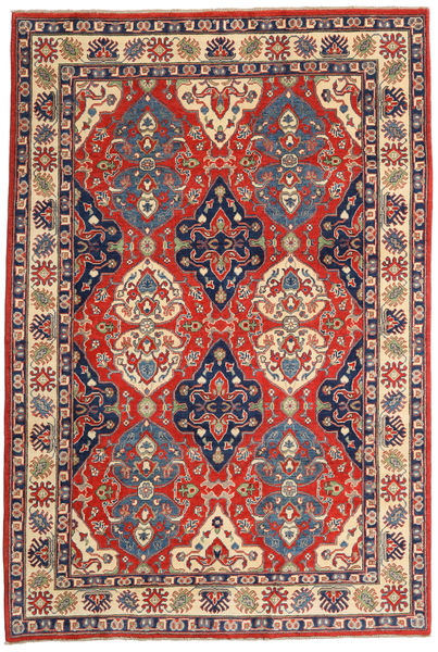 Kazak Rug 183X270 Authentic  Oriental Handknotted Dark Grey/Rust Red (Wool, Pakistan)