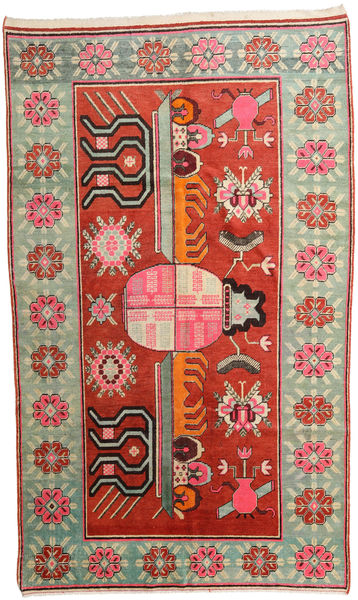 Samarkand Vintage Rug 161X271 Authentic  Oriental Handknotted Dark Red/Beige (Wool, China)