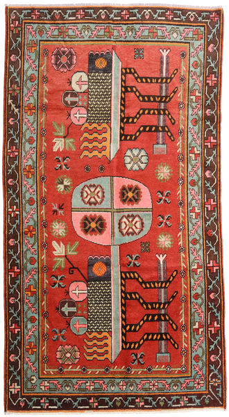 Samarkand Vintage Rug 152X294 Authentic  Oriental Handknotted Dark Brown/Rust Red (Wool, China)